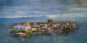 Downtown Asheville NC Skyline