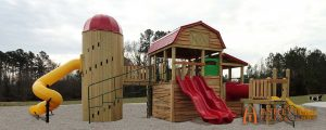 Barn and Silo Themed Playground - Asheville Playgrounds