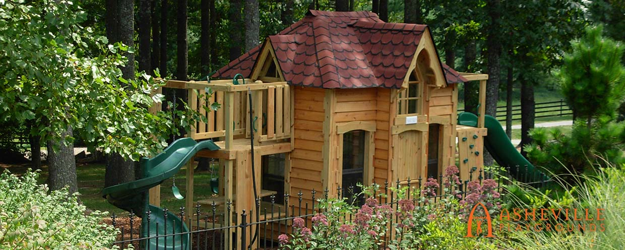 Victorian Style Playhouse - Asheville Playgrounds