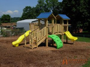 Clyde First Baptist Church Playground - Asheville Playgrounds