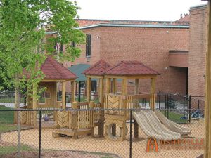 First Baptist Church in Asheville - 2 to 5 playset - Asheville Playgrounds