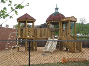 First Baptist Church in Asheville - 5 to 12 domed playset - Asheville Playgrounds