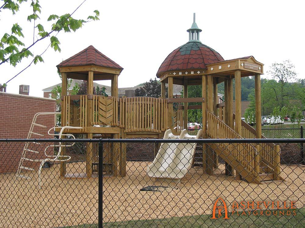 First Baptist Church in Asheville NC 5 to 12 domed playset