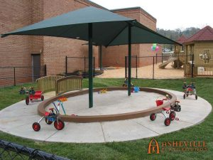 First Baptist Church in Asheville - Shaded Sandbox - Asheville Playgrounds