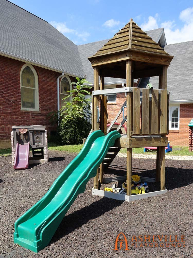 Hex Fort Playground Methodist Church in Fletcher NC