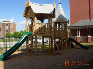 Fletcher United Methodist Church Play Set in Decatur- Asheville Playgrounds