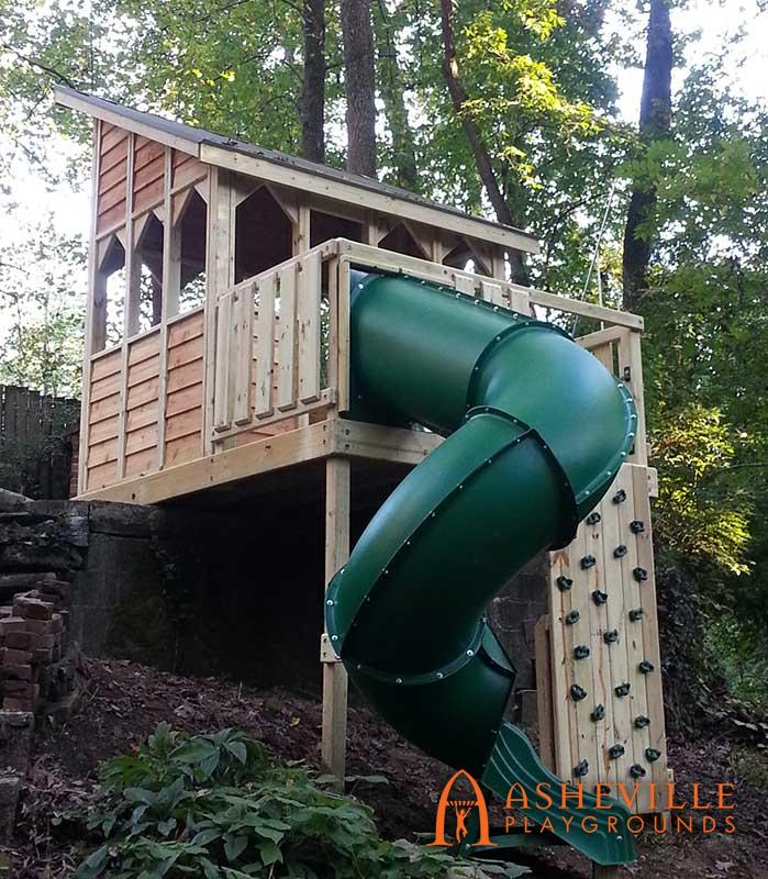 Adaptable Play Fort on Seven Foot Slope