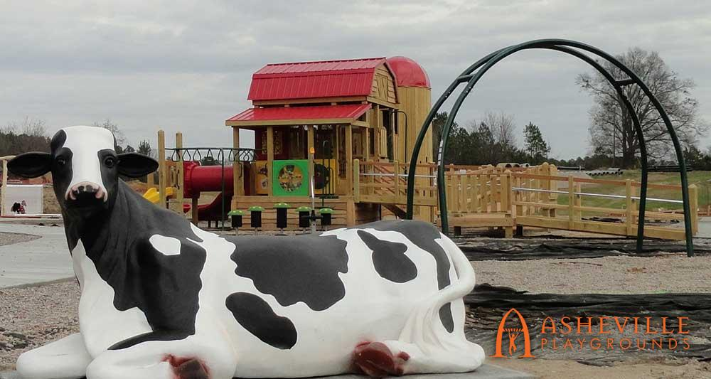 Bessie the Cow Barn and Silo Playground