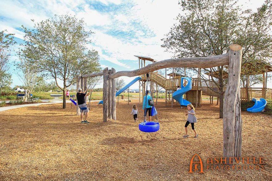 Locust Log Swing Set Bexley Community Playground in Land O'Lakes FL