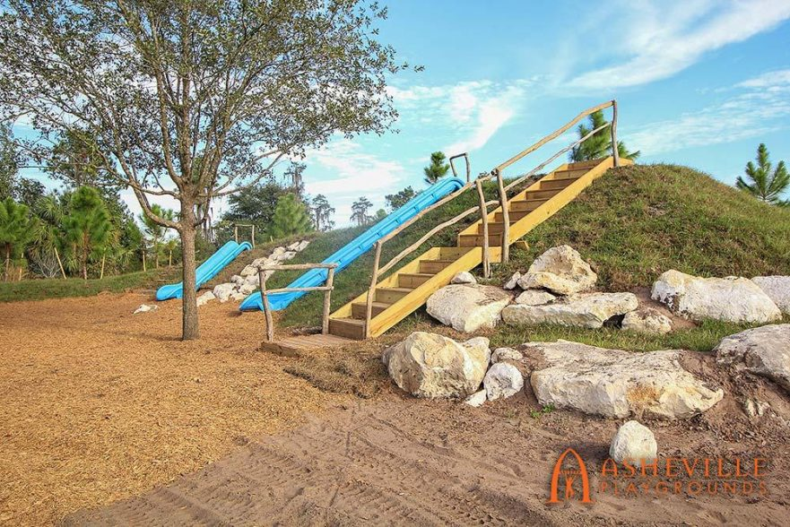 Grade Slides at Bexley Community playground in Land O'Lakes, Florida