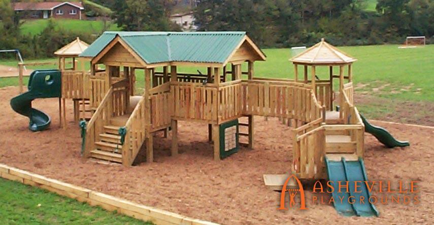 Brush Creek Elementary Playground - Asheville Playgrounds