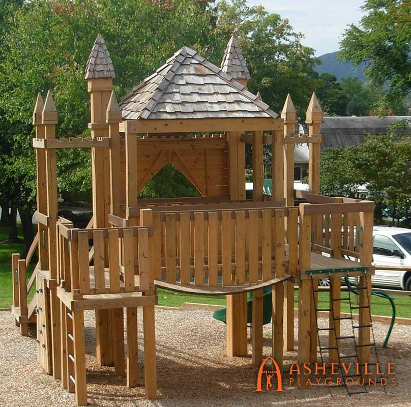 Castle Theme Playground Replica of Church