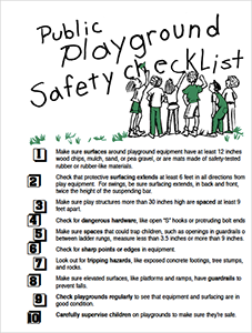 CPSC Public Playground Safety Checklist