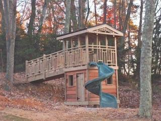 Double Decker Cedar Cabin with Fort