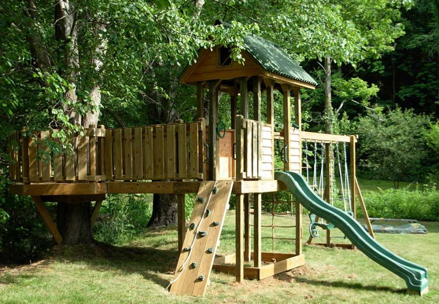 Backyard Play Set with Tree Deck