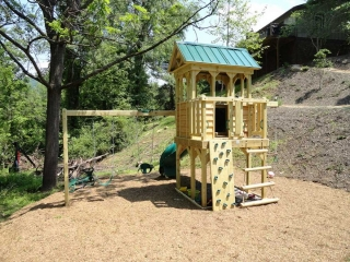 Family Play Fort with Swing Set