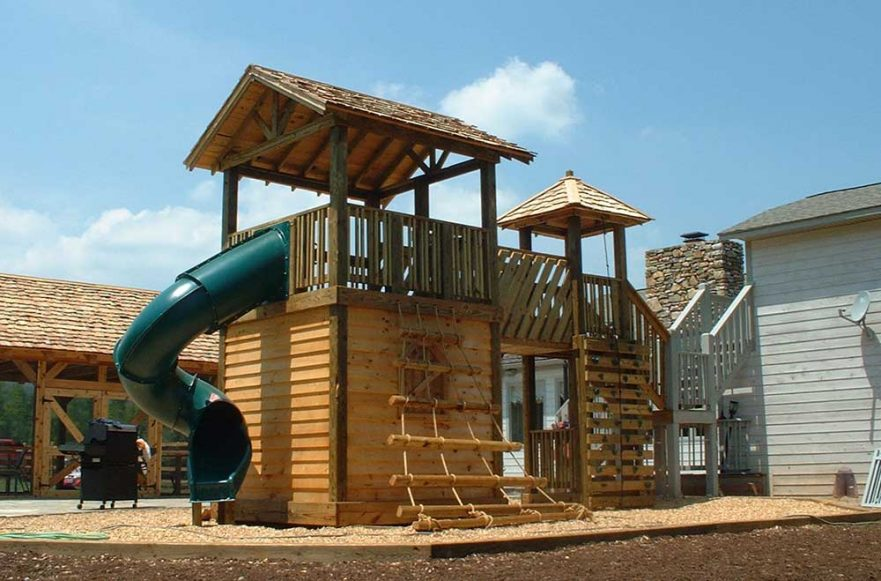 Residential Playground Cedar Lap Roof