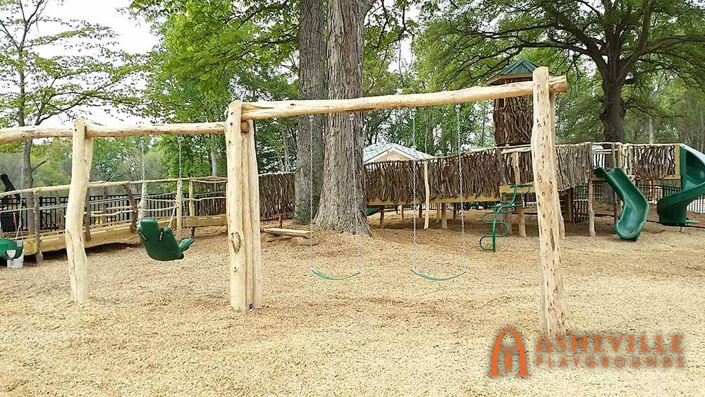 Locust Log Swing Set