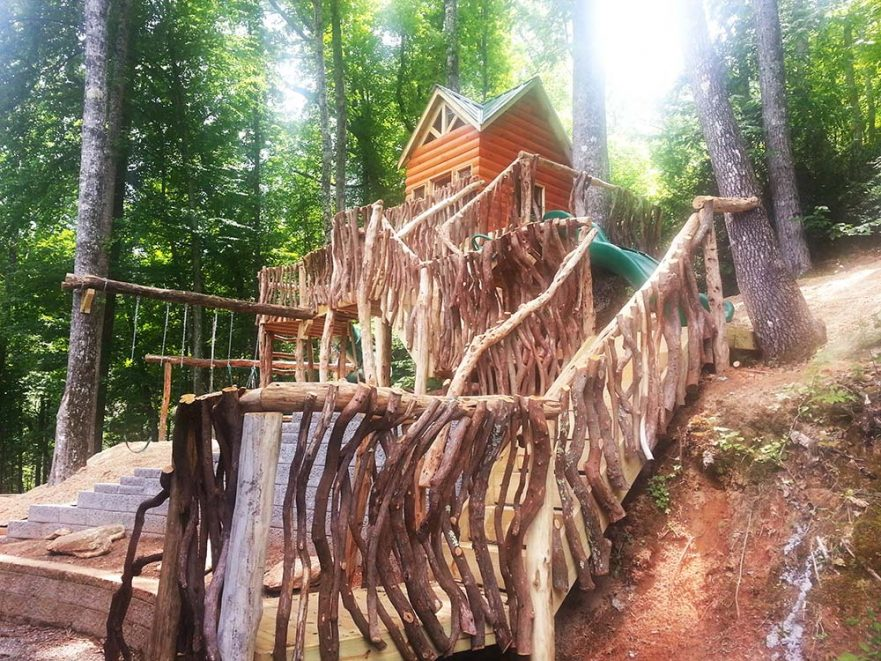 Natural Staircase to Play Cabin
