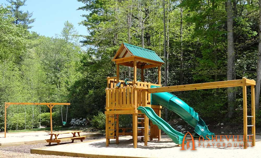 Large playground monkey bars swings Hendersonville NC