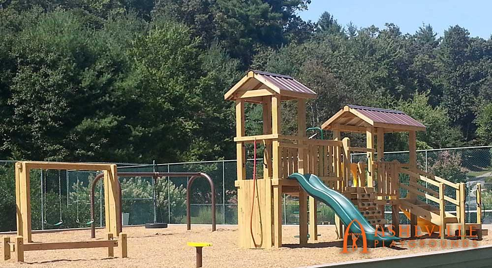 Multi-piece playground set Laurel Creek Asheville NC