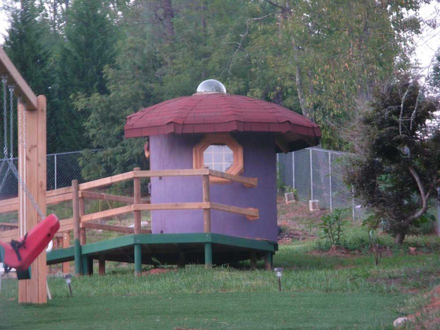 Mushroom Themed Playhouse