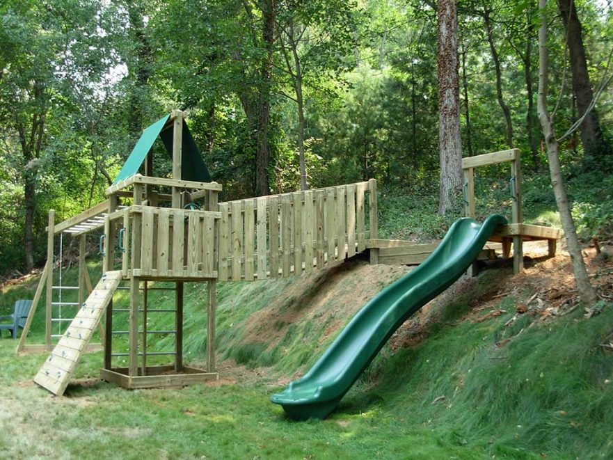 Residential Playground Backyard Hill Slide