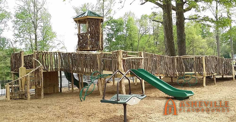 Natural Wood Park Playground Belmont NC