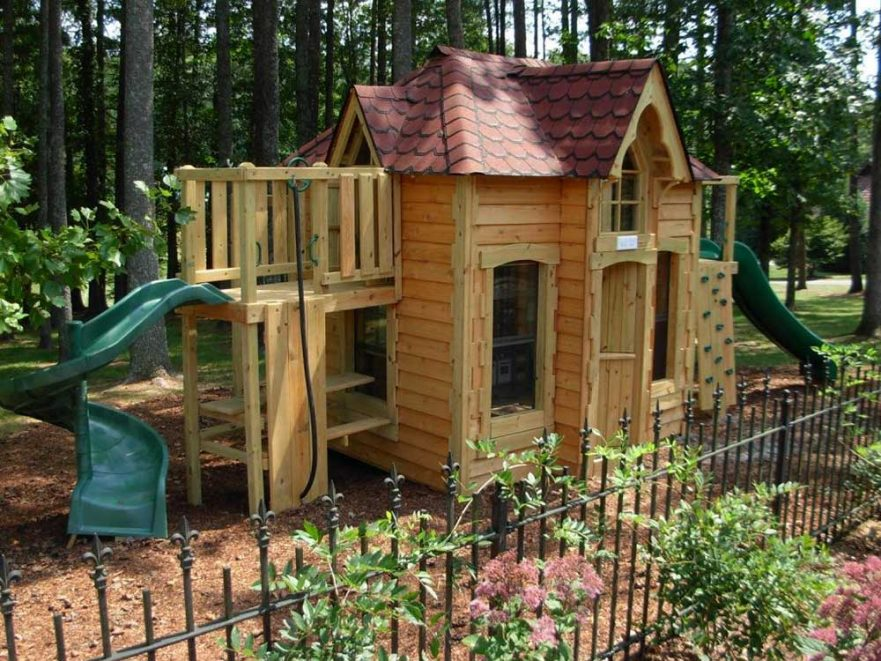Log Cabin Replica Playground