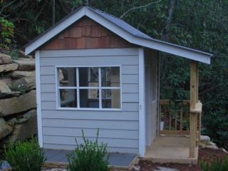 Playhouse With Windows Replica of House