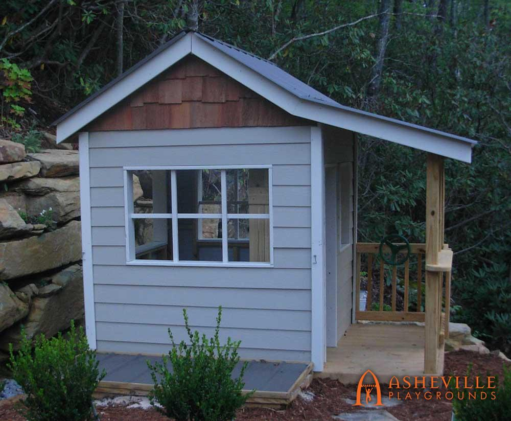 Residential Playhouse Replica with Covered Sandbox