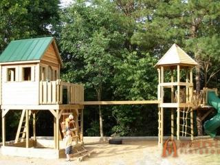 Residential Cedar Lap Cabin with Two Decks