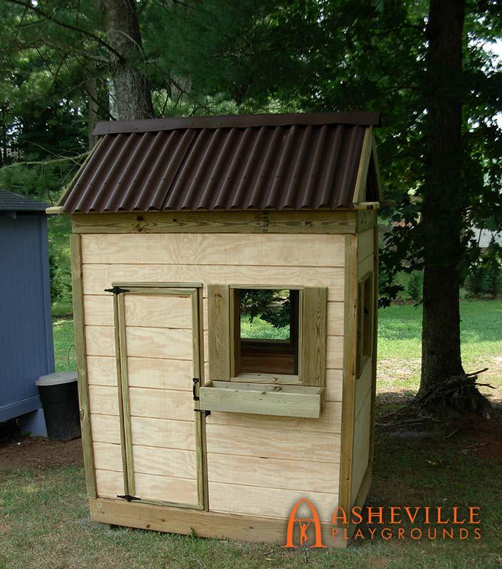 Small Backyard Wooden Playhouse