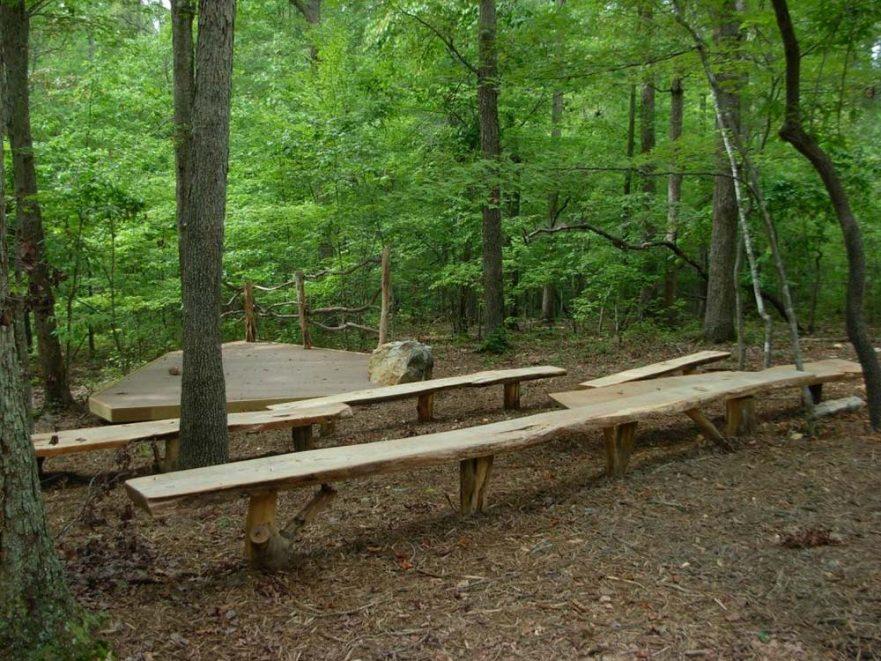 Locust Benches Rock Ridge Park Amphitheater