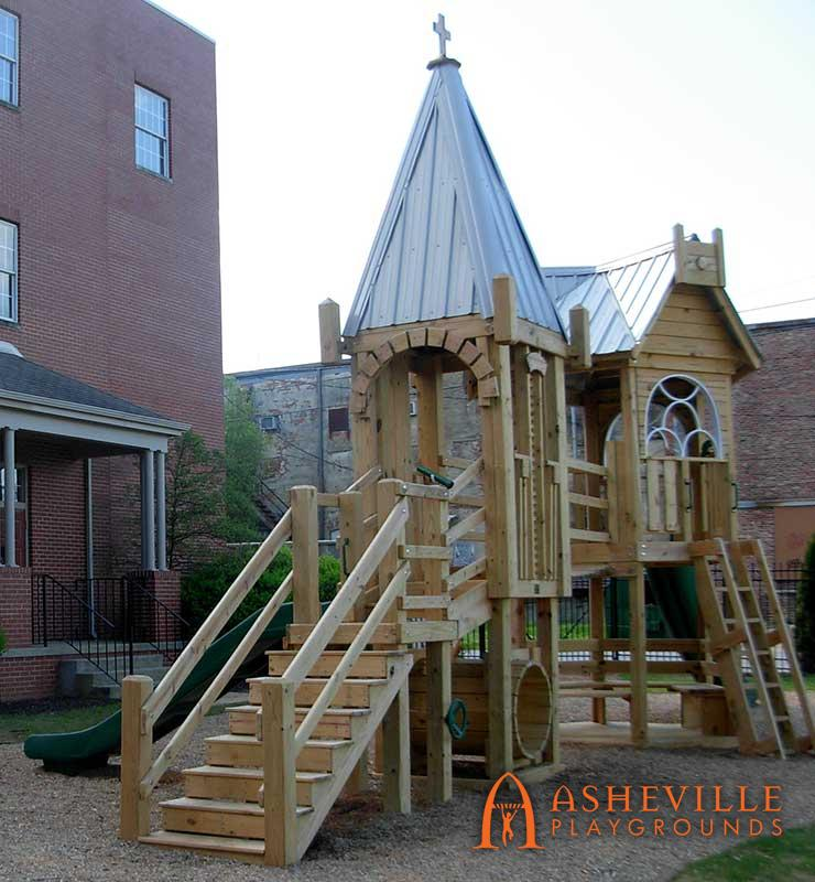 Church Replica Themed Playground