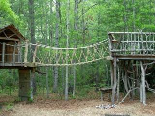 Large Backyard Playground Natural Wood