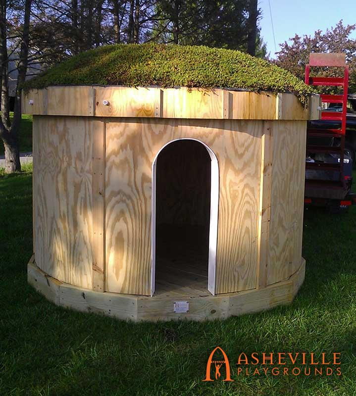 Residential Round Playhouse Living Roof
