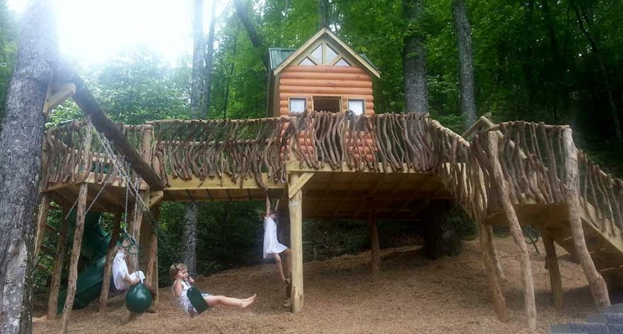 Large Natural Cabin Playground