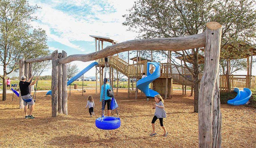 Large Natural Locust Swing Set Playground