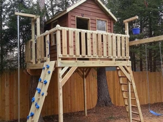 Residential Tree Deck and Cabin