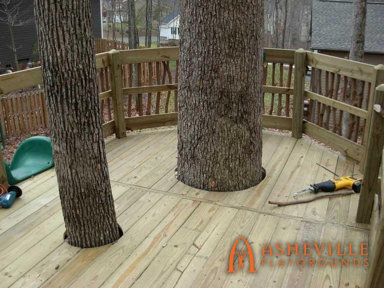Backyard Tree Deck