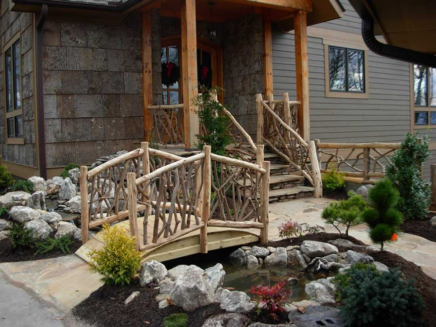 Natural Wooden Bridge and Deck