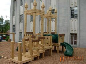Waldensian Presbyterian Church - 2 to 5 years of age play set - Asheville Playgrounds