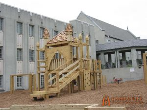 Waldensian Presbyterian Church - 5 to 12 years of age play set - Asheville Playgrounds