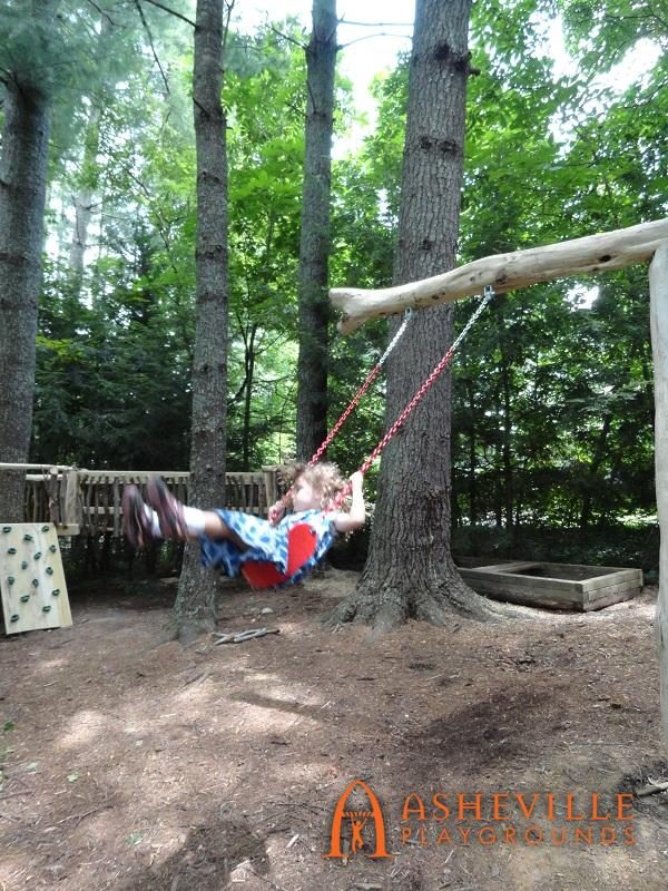 Cane Creek Montessori Kid Swinging