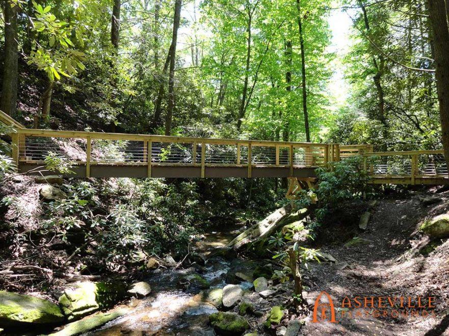 Side View of Trail Head Bridge