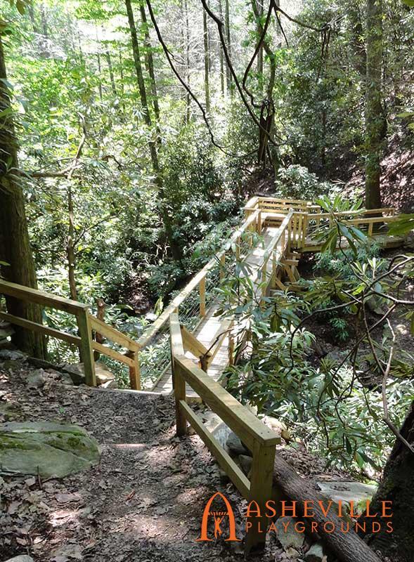 Custom Trail Head Bridge in Montreat