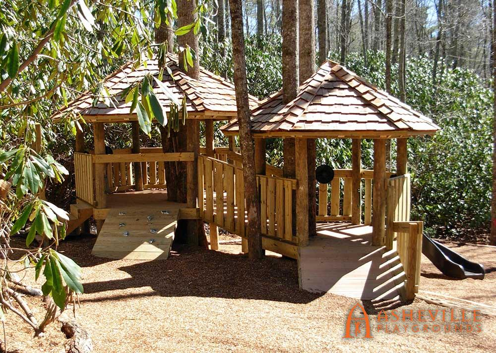 Toddler treehouse cedar shake roof Fairview, NC