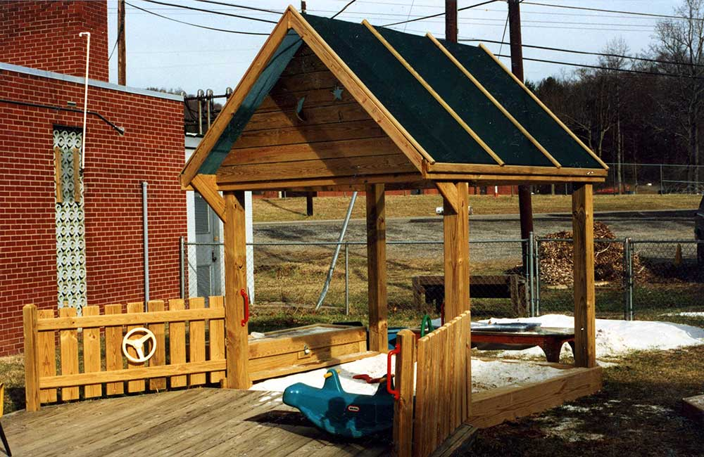 Covered Sandbox Asheville City Preschool
