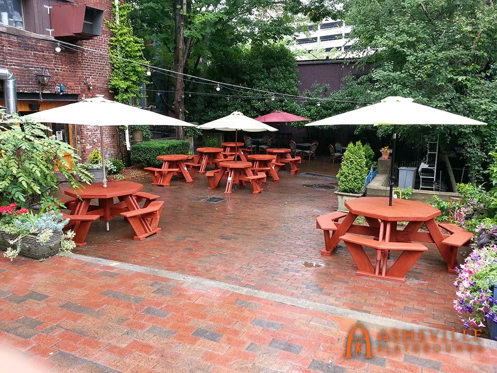 Custom Picnic Tables Asheville Restaurant
